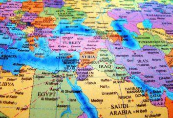 Die Position des Landes in Bezug auf die Nachbarländer. Wirtschaftliche und geographische Lage der Länder