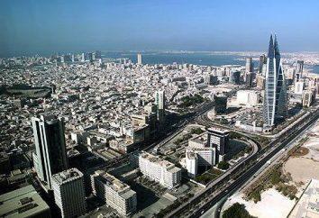 capitale de Bahreïn. Bahreïn sur la carte du monde. Le plus petit Etat arabe