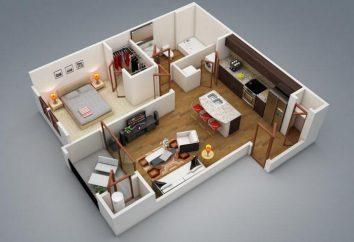 Plan Evrodvushek. Design d'intérieur de l'appartement-evrodvushki (photo)