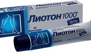 """""""Lioton"""" (gel): comentários. """"Lioton"""" (sílica): instrução, a aplicação, a eficácia da droga"""