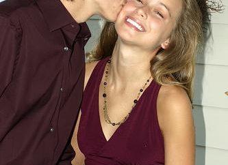 Schule Beziehungen: spricht über einen Kuss?