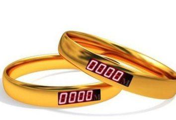 Novidade – anéis de casamento com um contador de distância entre eles