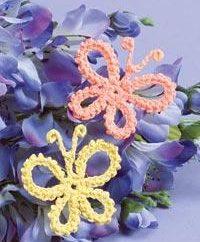 Pequena crocheted crocheted butterfly: duas maneiras de fazê-lo