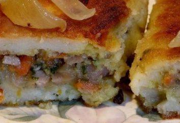 pommes de terre Zrazy avec la viande hachée et les galettes de pommes de terre en purée et le thon