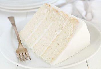 Jak zrobić biały tort: przepis ze zdjęciem