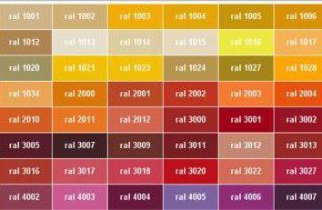 RAL palety. Wszystkie funkcje