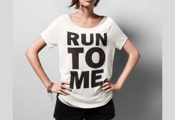 Quais são T-shirts com inscrições