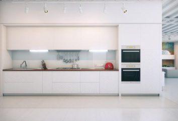 Biały wnętrza kuchni – świeży roztwór