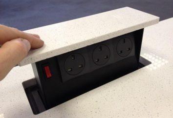 Socket intégré dans la table: le but et les caractéristiques de l'installation