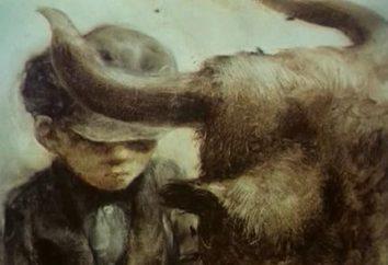 """comovente história foram escritos por Andrey Platonov. Resumo: """"Cow"""" – um produto de seres humanos e animais"""