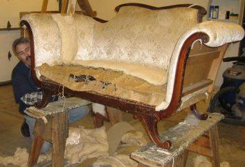 sofás tapizados, muebles tapizados: la instrucción para realizar el trabajo