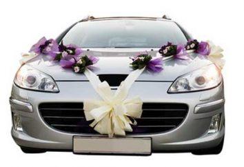 Ozdoby samochodów weselne z własnymi rękami: przydatnych wskazówek