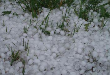Quelle est la grêle, la neige roulée et de pluie verglaçante, et quelle est la différence entre eux?