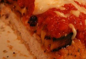 Carne de cerdo con berenjenas y tomate con queso sombrero