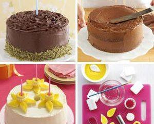 Decorar o bolo em casa usando produtos simples