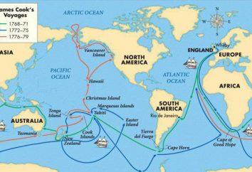 Angielski żeglarz i odkrywca Dzheyms Kuk. Biografia, historia podróży
