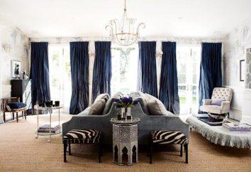 Cortinas para a sala de estar com as mãos: a escolha do material, a tecnologia de costura