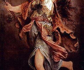 L'asta di Dioniso avvolto con edera e di vite foglie (foto)