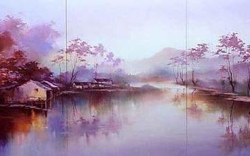 Współczesne malarstwo. Krajobrazy współczesnych artystów