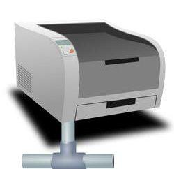 La instalación de un elemento de red independiente de una impresora de red