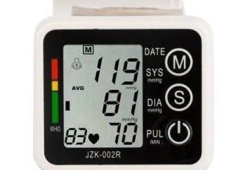 Manuelles Blutdruckmessgerät am Handgelenk: Muster und Antworten