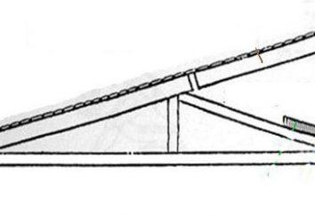 Pent dach z rękami w krokach. Urządzenie pent dachu