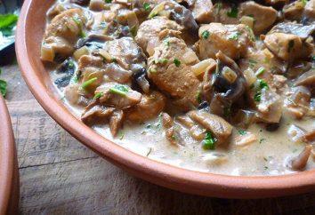 filete de pollo deliciosa y jugosa en una sartén: la receta