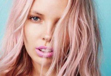 Características tintura de cabelo loiro em rosa