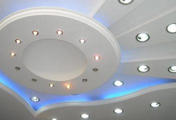 Installation du plafond: la séquence des opérations