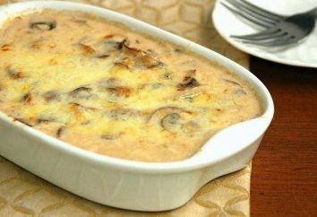 Julienne z grzybami i serem: przepis ze zdjęciem