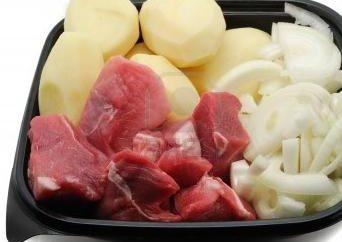 Fleisch in einem Doppel-Kessel