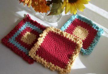 Nós tricotamos ganchos de crochê bonitos: diagramas e descrição