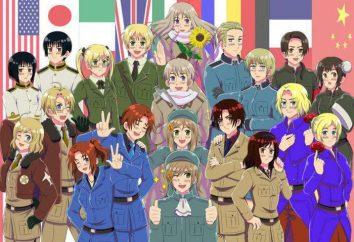 "Anime ""Axis Powers Hetalia"": znaków. ""Axis Powers Hetalia""- seria alegorii"