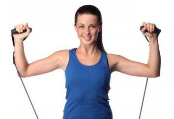 Übungen auf dem Unterarm für Frauen mit Hanteln zu Hause: Liste