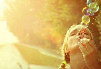 Status über das Glück mit Bedeutung: wählen Sie die richtigen Worte