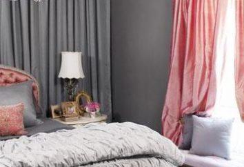 Couvre-lits et rideaux pour la chambre à coucher. Choisissez le tissu et le style