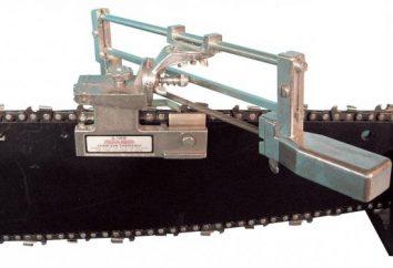 Macchina per l'affilatura della motosega – unità e principio di funzionamento