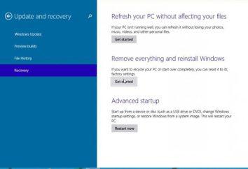 Jak zrobić wycofywania systemu Windows 10: Metody i instrukcji
