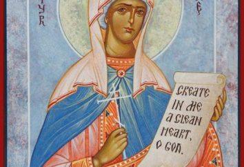 Arina: o dia do nome do calendário da igreja