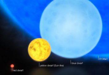 Yellow Star: esempi, la differenza di colore stelle