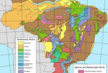 minerais Brasil e características do terreno