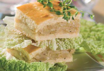 torta de repolho delicioso no kefir