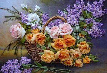 O bordado de flores com fitas é uma atividade divertida e um passatempo maravilhoso