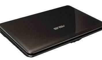 Laptop Asus K50C: Specyfikacje