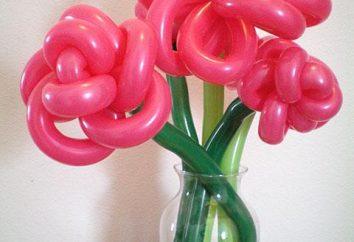 Criar um feriado. Como fazer uma flor das bolas