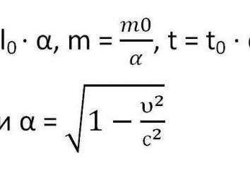 masa de la partícula relativista