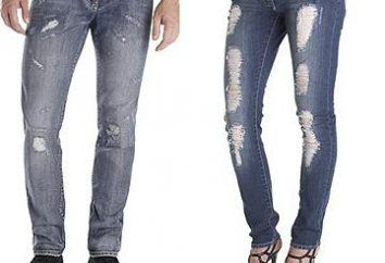 Wie man die Jeans selbst getragen machen?