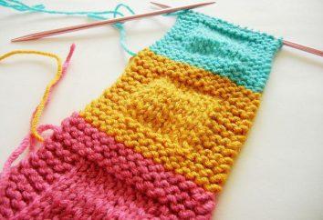 Come collegare la parte lavorata a maglia impercettibile?