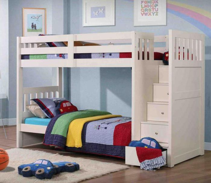 Bed-loft con una cama abajo. Muebles para niños