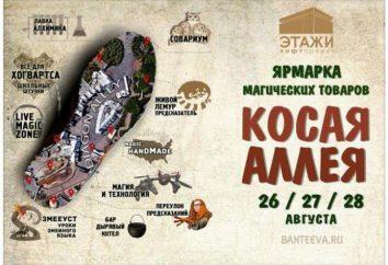 """Festival-Fair """"Oblique Alley"""" in St. Petersburg, eine der magischen Ereignisse in der Northern Capital"""